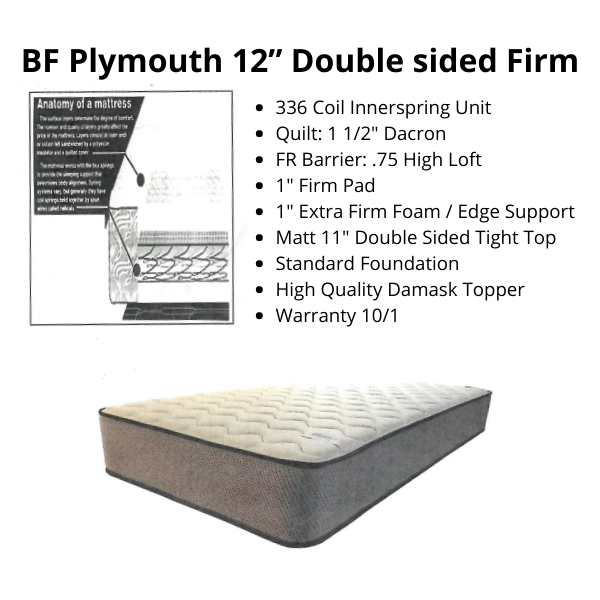 """BF Plymouth 12"""" Double sided Firm"""